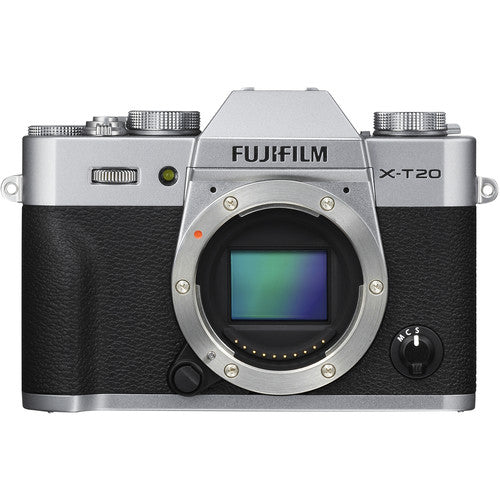 Fujifilm X-T20 Mirrorless Camera & XC 15-45mm Lens - Silver