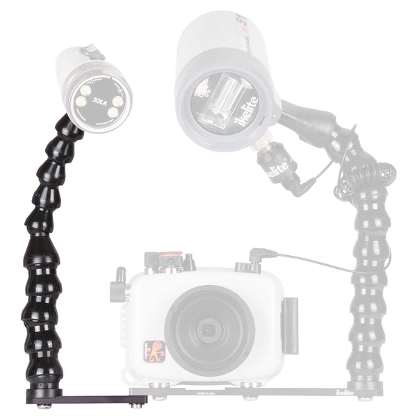 Ikelite Action Tray II Extension with Light Arm for ULTRAcompact Housings - Underwater - Ikelite - Helix Camera