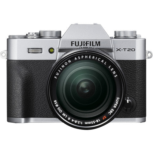 Fujifilm X-T20 Mirrorless Camera & XF 18-55mm f2.8-4.0 - Silver