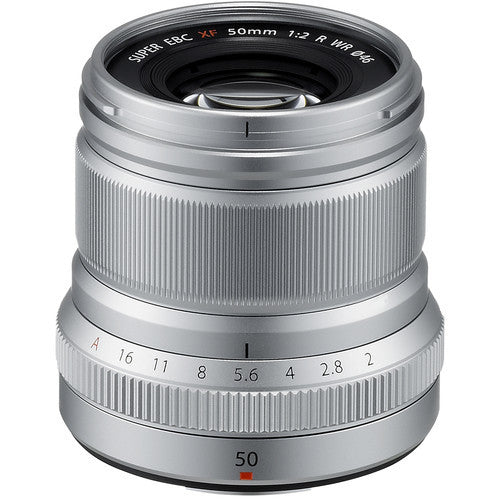 Fujinon XF 50mm F2 R WR - Silver - Photo-Video - Fujifilm - Helix Camera