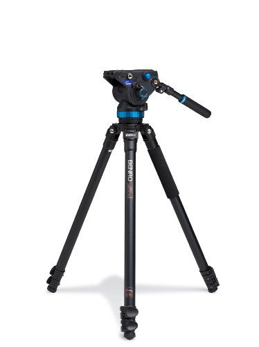 Benro A373FBS8 Video Tripod Kit - Aluminum (Black) - Photo-Video - Benro - Helix Camera