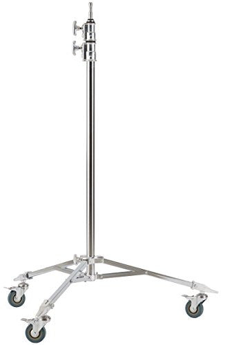 Studio-Assets Double Riser Roller Stand with Baby Pin (Silver) - Lighting-Studio - Studio-Assets - Helix Camera