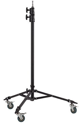 Studio-Assets Double Riser Roller Stand with Baby Pin (Black) - Lighting-Studio - Studio-Assets - Helix Camera