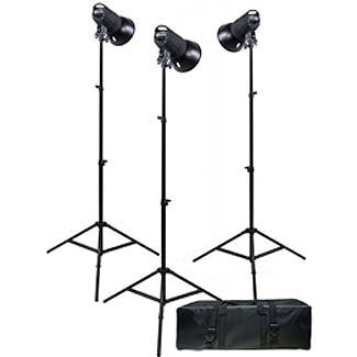 Promaster SM300 Digital Display 3-Light Studio Kit