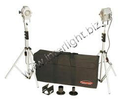 Photogenic Minispot Outfit Kit with 2 Minispots, Lightstands & Case. (CL150FSK) - Lighting-Studio - Photogenic - Helix Camera
