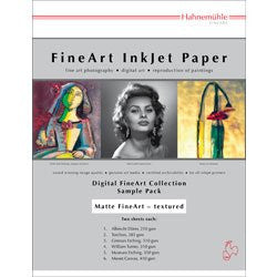 Hahnemuhle Matte FineArt Textured Archival Inkjet Paper Sample Pack (8.5 x 11 i - Print-Scan-Present - Hahnemuhle - Helix Camera