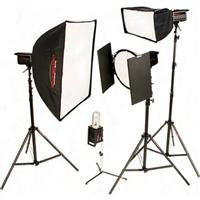 Photogenic PL-600K, 2000ws Solair Powerlight Kit, with Four PL500DRC 500ws Solair Monolights, Stands, Soft Boxes, Reflectors & Barndoors (PL600K) - Lighting-Studio - Photogenic - Helix Camera