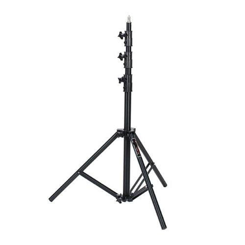 Photogenic 8' Air-Cushioned Heavy Duty Aluminum 4-Section Lightstand, Black Anodized Finish - Lighting-Studio - Photogenic - Helix Camera
