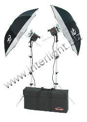 Photogenic 1000w Photoflood Kit with 2 CL500 Photoflood Lights, Stands, Reflectors, Umbrellas and Case. (CL500K)