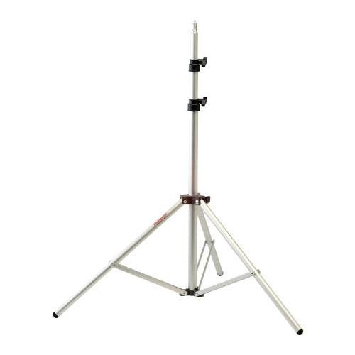 "Photogenic 6' Air Cushioned, Heavy Duty Lightstand with 5/8"" Mounting Stud, 4 Section with 3 Risers, Chrome. (TALS6)"