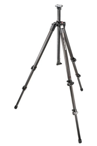 Manfrotto 055CX3 Carbon Fiber 3 Section Tripod with Aluminum Castings and Top Plate (Black) - Photo-Video - Manfrotto - Helix Camera