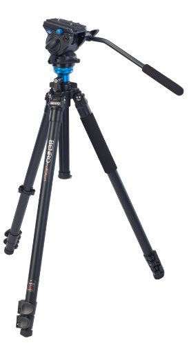 Benro A2573FS4 Single Leg Video Tripod Kit, Black