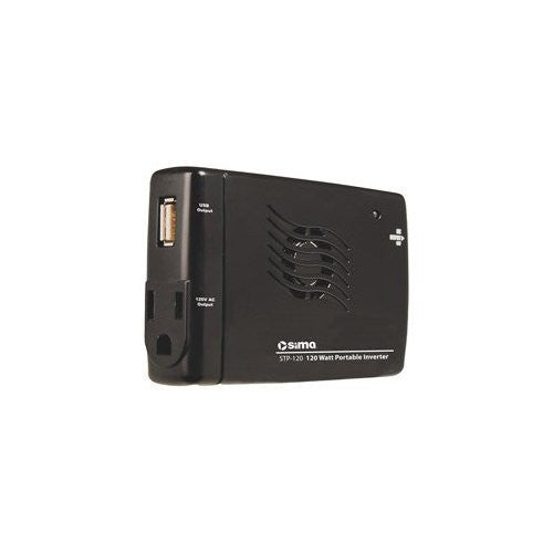 Sima STP-120 DC-to-AC Power Inverter - 12V DC - 120V AC - Continuous Power:120W
