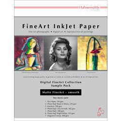 "Hahnemuhle Matte Fine Art Smooth Archival Inkjet Paper Sample Pack, 8.5x11"", 14 Sheets 11640303 - Print-Scan-Present - Hahnemuhle - Helix Camera"