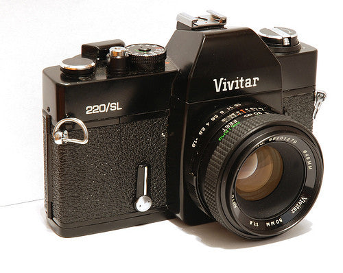 Used Vivitar 220/SL 35mm SLR Body w/55mm f2.8 Lens