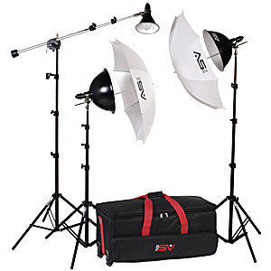 Smith Victor KT900 3-Light 1250-watt Thrifty essential advanced kit w/ wheeled case (401436) - Lighting-Studio - Smith-Victor - Helix Camera