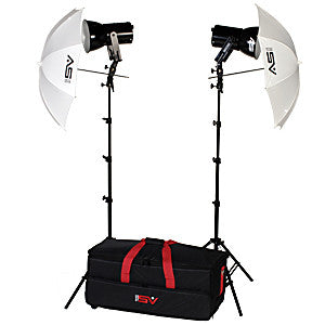 Smith Victor K87 500-Watt Photoflood Umbrella Kit #401457 - Lighting-Studio - Smith-Victor - Helix Camera