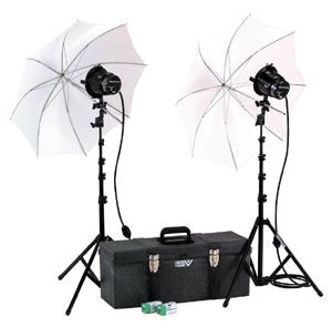 Smith Victor K42U 2-Light 1200-watt Toolbox Kit with umbrellas (401494) - Lighting-Studio - Smith-Victor - Helix Camera