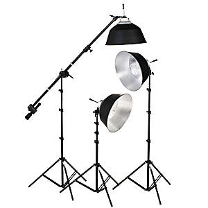 Smith Victor KFL-33 3-Light Fluorescent 1050-watt DigiLight Kit (401535) - Lighting-Studio - Smith-Victor - Helix Camera