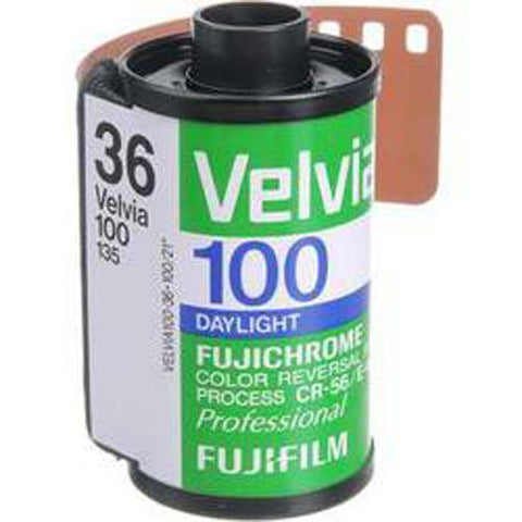 Fujifilm Fujichrome Velvia 100 Professional RVP 100 Color Transparency Film (35mm Roll Film, 36 Exposures)