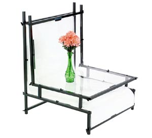 "Smith-Victor TST24 24"" Shooting Table with Opaque Plexiglass"
