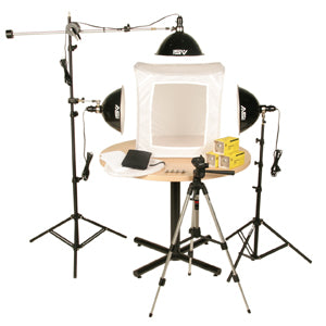 Smith-Victor KLB-3 Product Lighting Kit- 3-LIGHT PHOTOFLOOD 1500-WATT, 28″ LIGHT-TENT-KIT