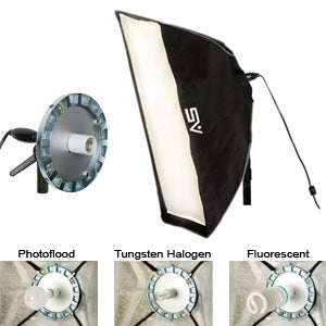 "Smith-Victor SBL-1236 - 12"" x 36"" Economy Softbox with SBL-1 Light"