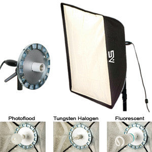 "Smith Victor SBL-2436, 24"" x 32"" 500 Watt Photoflood SoftBox Light - 120V AC (402084)"