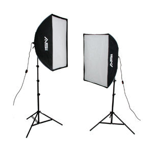 Smith Victor KSBQ-2000 2000-watt Pro SoftBox Light  Kit (408080) - Lighting-Studio - Smith-Victor - Helix Camera