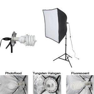 Smith Victor KSB-500 1-Light 500-watt Economy SoftBox Light  Kit  (408085)