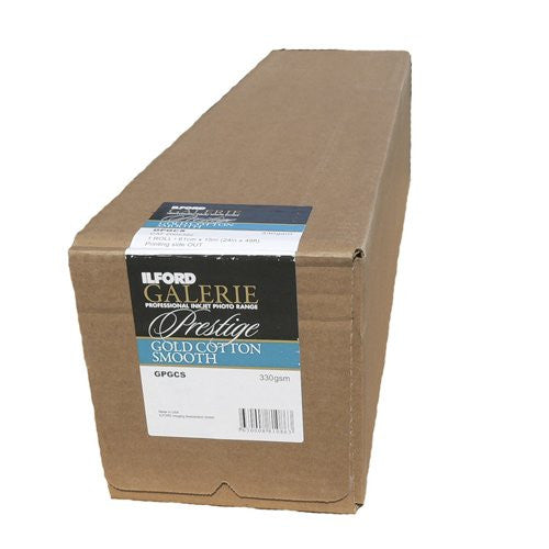 Ilford 2002382 24 X 50-1 Inches GALERIE Prestige Gold Cotton Smooth Roll (Black)