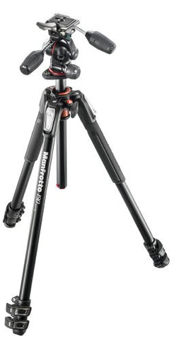 Manfrotto 190XPRO3 Aluminum 3-Section Tripod with 3-Way Head - Photo-Video - Manfrotto - Helix Camera