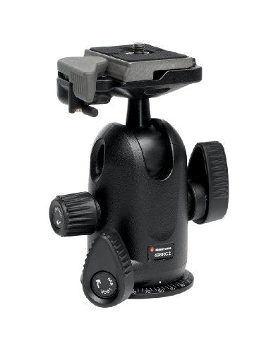 Manfrotto 498RC2 Ball Head with Quick Release Replaces Manfrotto 488RC2 - Lighting-Studio - Manfrotto - Helix Camera