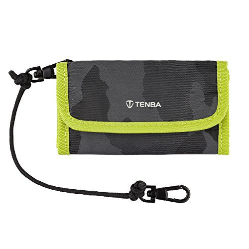 Tenba 636-218 Reload SD 9 Card Wallet (Black Camouflage/Lime)