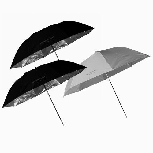 Promaster Studio 3 Umbrella Starter Kit Black/Silver & Soft Light - Photo-Video - ProMaster - Helix Camera
