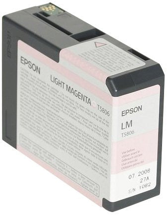 Epson UltraChrome K3 Ink Cartridge - 80ml Light Magenta (T580600)