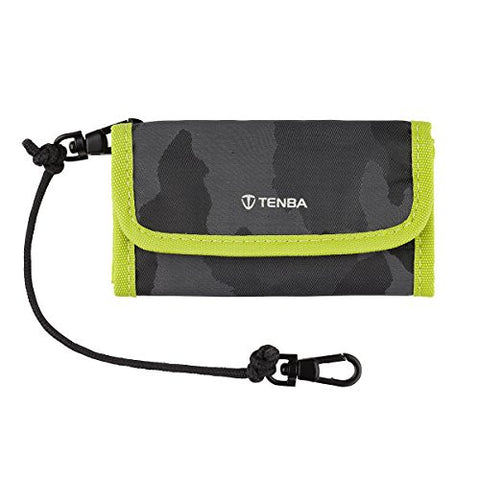 Tenba 636-219 Reload CF 6 Card Wallet (Black Camouflage/Lime) - Photo-Video - Tenba - Helix Camera