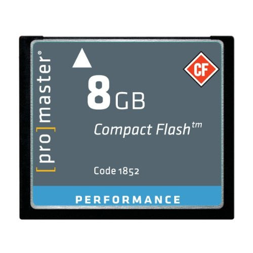 Promaster Performance 8GB Compact Flash Card, 500X