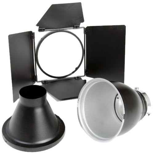 Bowens BW-1882 Reflector Kit Includes 60 Degree Reflector, Snoot and 4 Leaf Barndoor (Black) - Lighting-Studio - Bowens - Helix Camera
