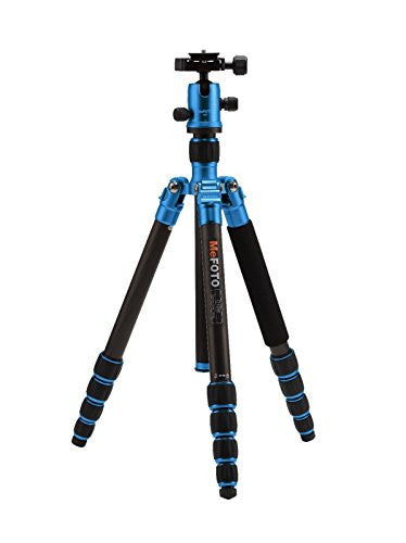 MeFoto Roadtrip Carbon Fiber Travel Tripod Kit - Blue