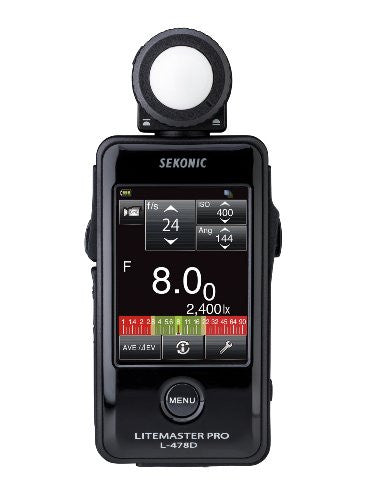 Sekonic Corporation 401-478 LITEMASTER PRO L-478D Photographic Light Meter (Black) - Lighting-Studio - Sekonic - Helix Camera