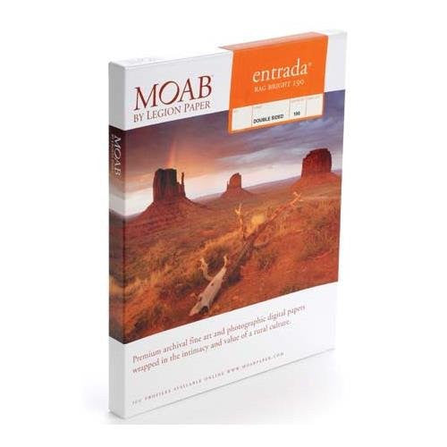 Moab Entrada Rag Bright 190 12 x 13 [25 pages] R08-ERB1901213P - Print-Scan-Present - Moab - Helix Camera