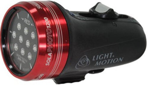 Light and Motion Sola Photo with Red Focus Light (1200-Lumens, Red)