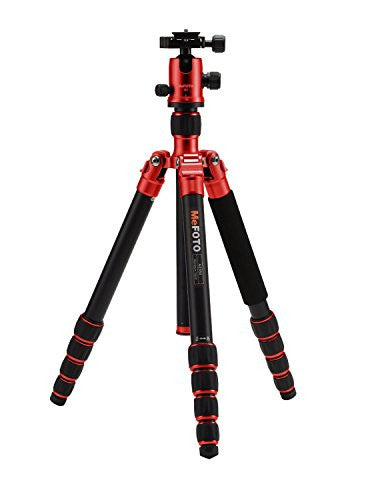 MeFoto GlobeTrotter Aluminum Travel Tripod Kit - Red