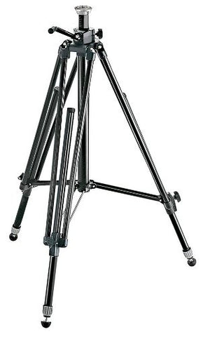 Manfrotto 028B Black Aluminum Studio Pro Triman Tripod with Geared Column - Lighting-Studio - Manfrotto - Helix Camera