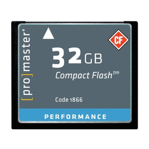 ProMaster Performance 500x Compact Flash - 32GB - Photo-Video - ProMaster - Helix Camera