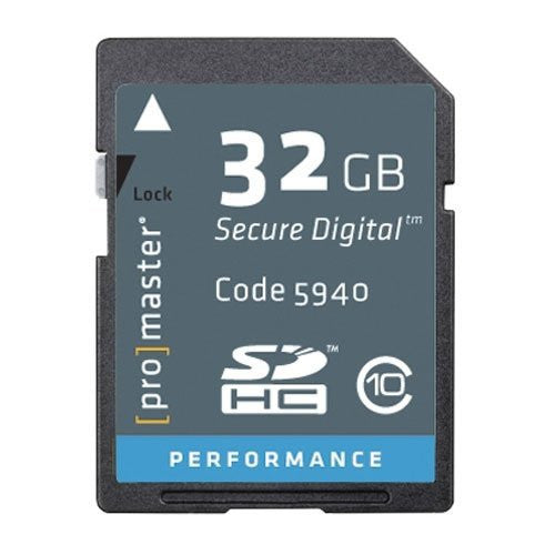 Promaster - 32GB - SDHC High Speed Secure Digital Memory Card - Class 10