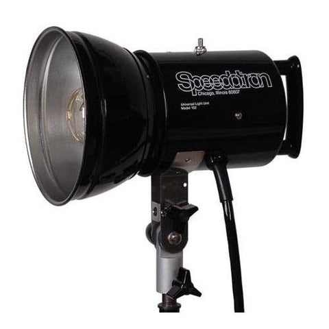 "Speedotron 102 Black Line-2400 Watt/Second Lamphead w/7"" Reflector and UV 850315-Speedotron - Lighting-Studio - Speedotron - Helix Camera"