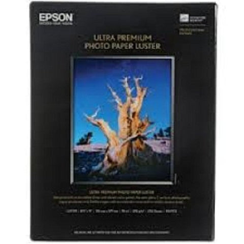Epson Ultra Premium Photo Paper LUSTER (8.5x11 Inches, 50 Sheets) (S041405) - Packaging May Vary - Print-Scan-Present - Epson - Helix Camera