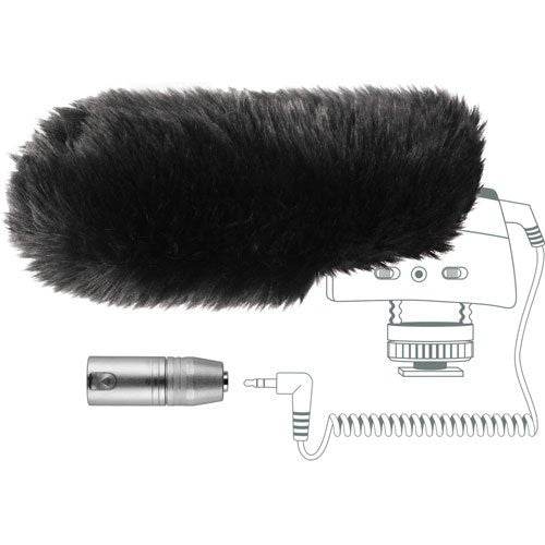 MZW400 Wind-muff and XLR Adapter Kit for the MKE400 - Photo-Video - Helix Camera & Video - Helix Camera